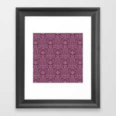 Las Vegas deco pattern Framed Art Print