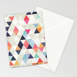 Lollypop Triangles - Geometric Pattern Stationery Cards