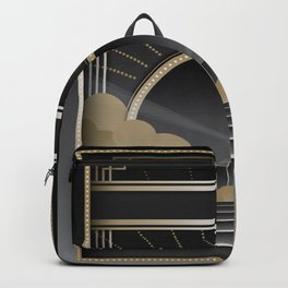 Art deco design V Backpack