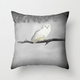 Snowy Owl 2 Throw Pillow
