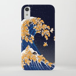 Shiba Inu The Great Wave in Night iPhone Case