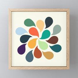 Colorful Water Drops Framed Mini Art Print