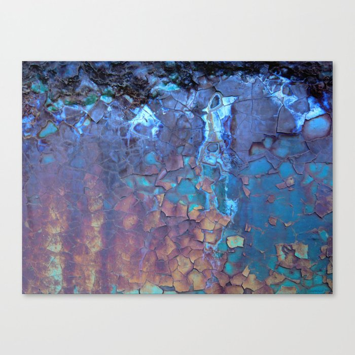 Waterfall. Rustic & crumby paint. Canvas Print