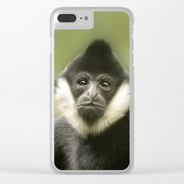 Colobus Monkey Clear iPhone Case