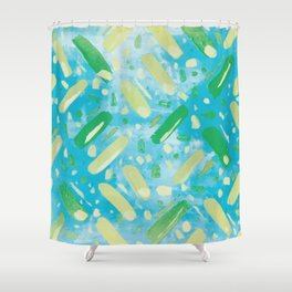 Festivities - Turquoise Shower Curtain