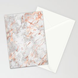 Beautiful Rose Gold Marble Pattern Stationery Cards