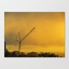 Foggy Portland Sunset (1) Canvas Print