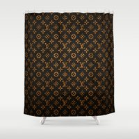 lv Shower Curtains featuring LV Pattern by Veylow