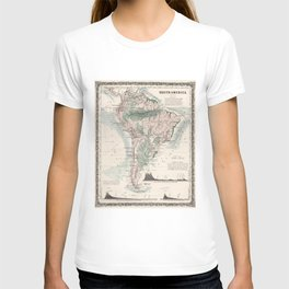 Vintage Map of South America (1858) T-shirt