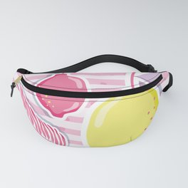pastel tropical fruits Fanny Pack