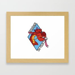 Dishonor on you! Framed Art Print