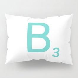 Custom Blue Scrabble Letter B Pillow Sham