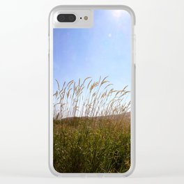 Tall grass in the sun Clear iPhone Case