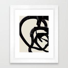 Mono Brush 2 Framed Art Print