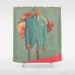 Absent Through my Adultness Shower Curtain