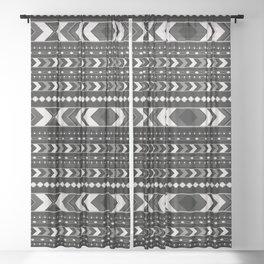 Tribal Arrow Boho Pattern #4 #aztec #decor #art #society6 Sheer Curtain