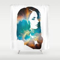 infinity Shower Curtains featuring Infinity by Lucas de Souza