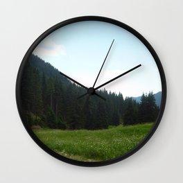 green beautiful nature Wall Clock