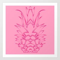 Orange Pineapple Art Print
