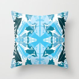 Spinx Moth Rorshach Throw Pillow
