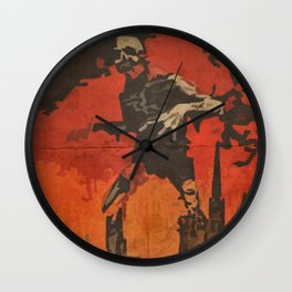 Do Your Part to Stop the Zombie Uprising Wall Clock