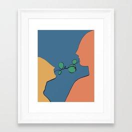 He, She: Sweet Nothings // Illustration Framed Art Print