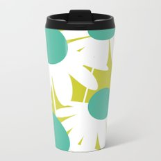 Flowers on Green by Friztin Metal Travel Mug
