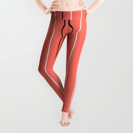 Line ligné 4 coral prince  of wales check Leggings
