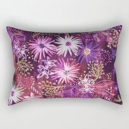 Eden Floral Purple Rectangular Pillow