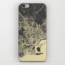 San Diego Map iPhone Skin