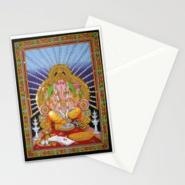 hindu god Ganesha ganesh tapestry wall hanging decor art Stationery Cards