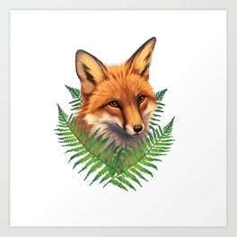 Fern Fox Art Print