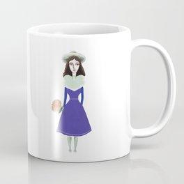 A girl in retro fashion Coffee Mug