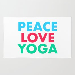 Peace Love Yoga Rug