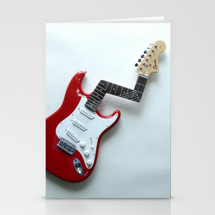 Jimi's Nightmare Distorted Guitar Sculpture Photograph Stationery Cards