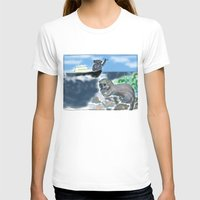 otters T-shirts featuring Otters Love by Gaby Kasan