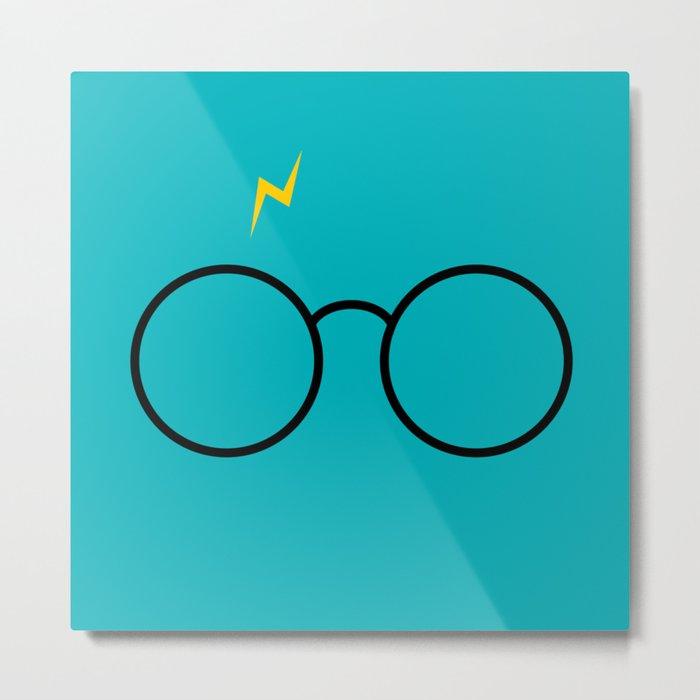 Potter Glasses - Harry Magic Design Metal Print