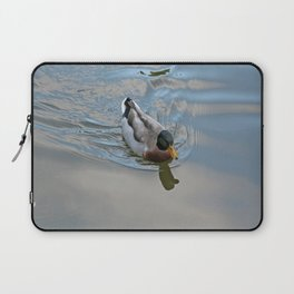 Mallard duck swimming in a turquoise lake 1 Laptop Sleeve