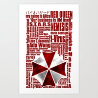 resident evil Art Prints featuring Resident Evil Story... by Rosso