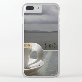 Coffee Before the Storm Clear iPhone Case
