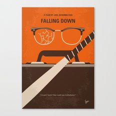 No768 My Falling Down minimal movie poster Canvas Print
