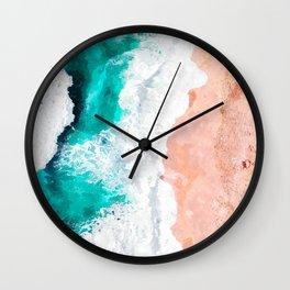 Beach Illustration Wall Clock