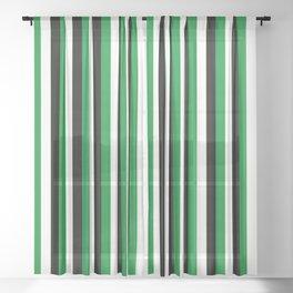 Team Color 4...green,black, white Sheer Curtain