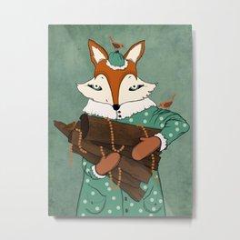 Blue eyes fox Metal Print