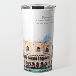Doge's Palace, Venice, Aquarell Travel Mug