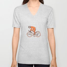 All I wanna do is bicycle Unisex V-Neck