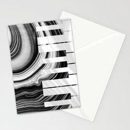 Marbled Music Art - Piano Keys - Sharon Cummings Stationery Cards