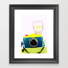 In the flash! Framed Art Print