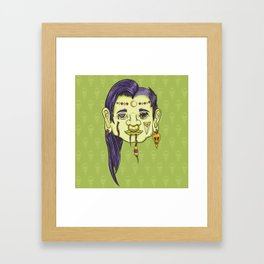 Shrunken Head Framed Art Print