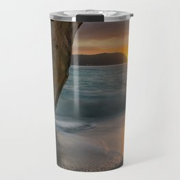 Dawn At Cathedral Cove 3 Travel Mug
